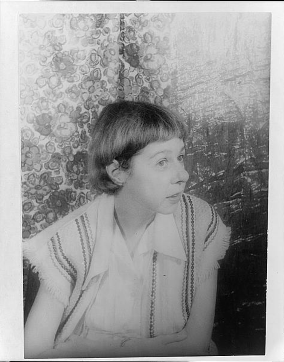 Black and white portrait of Carson McCullers by Carl Van Vechten