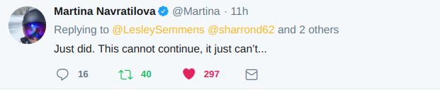 Martina Navratilova tweet
