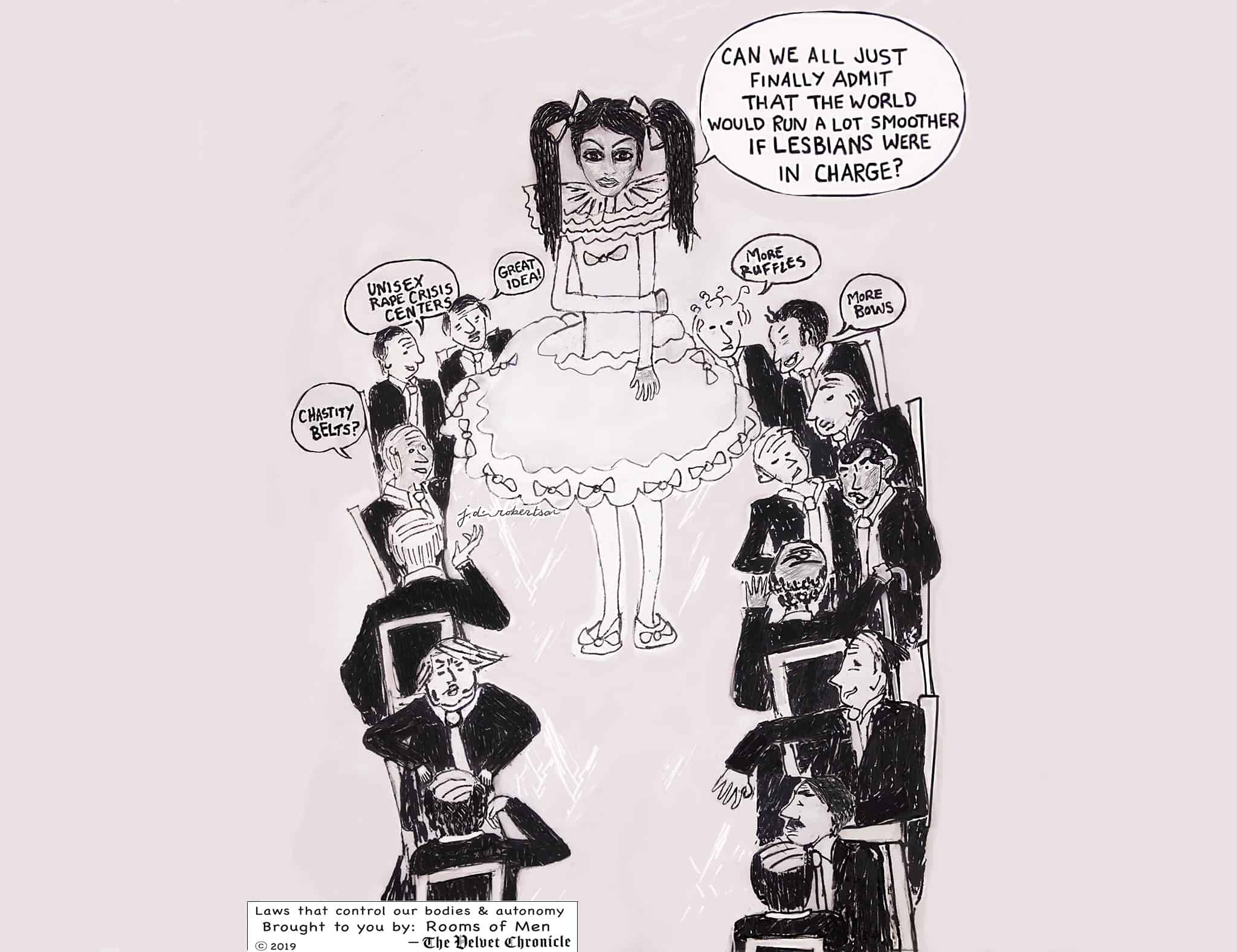 Cartoon, Put the Lesbians in Charge by Julia Diana Robertson