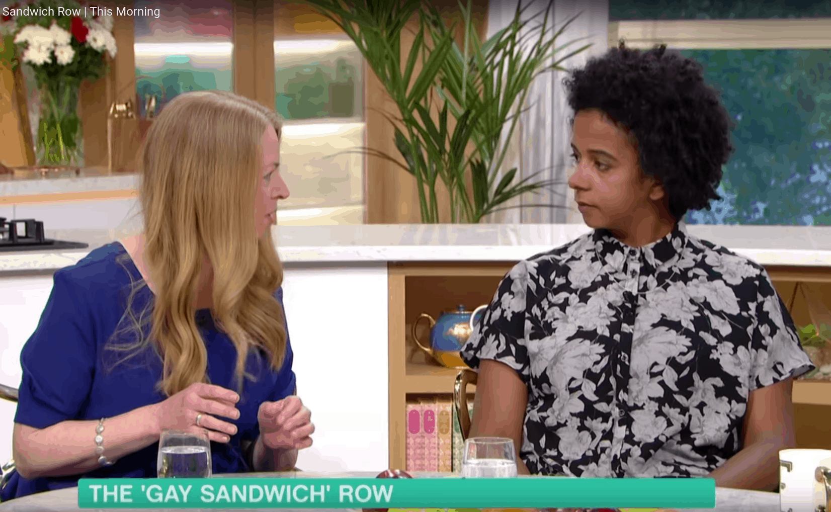 Sonia Pulton and Melissa Thompson discussing LGBT sandwich and cotton ceiling on This Morning