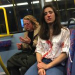 Lesbian couple Melania Geymonat and girlfriend Chris beaten in homophobic attack on London bus