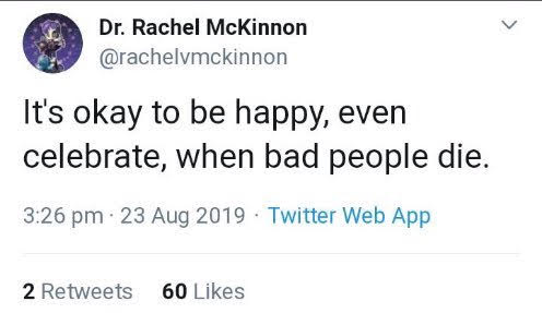 screenshot of anti lesbian tweet by Rachel McKinnon
