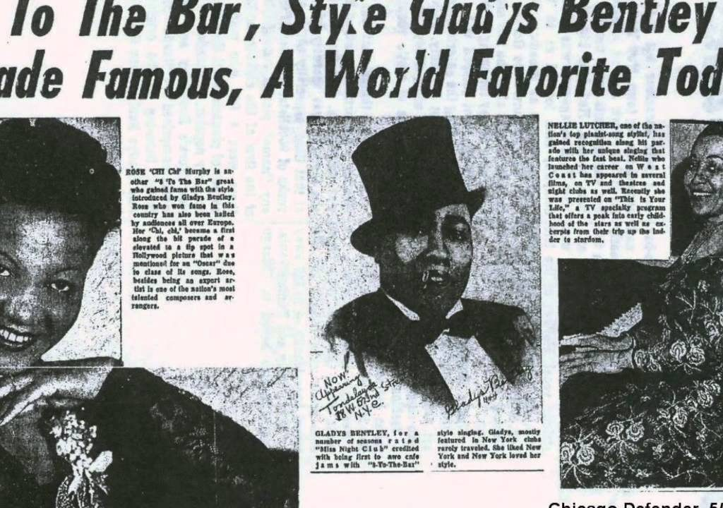 Gladys Bentley in tux and top hat