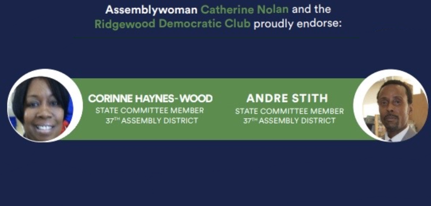 Corinne Haynes-Wood and Andre Stith run for Female and Male State Committee Member for the 37th Assembly District